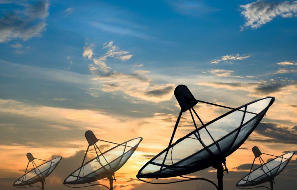 satellites pointing up