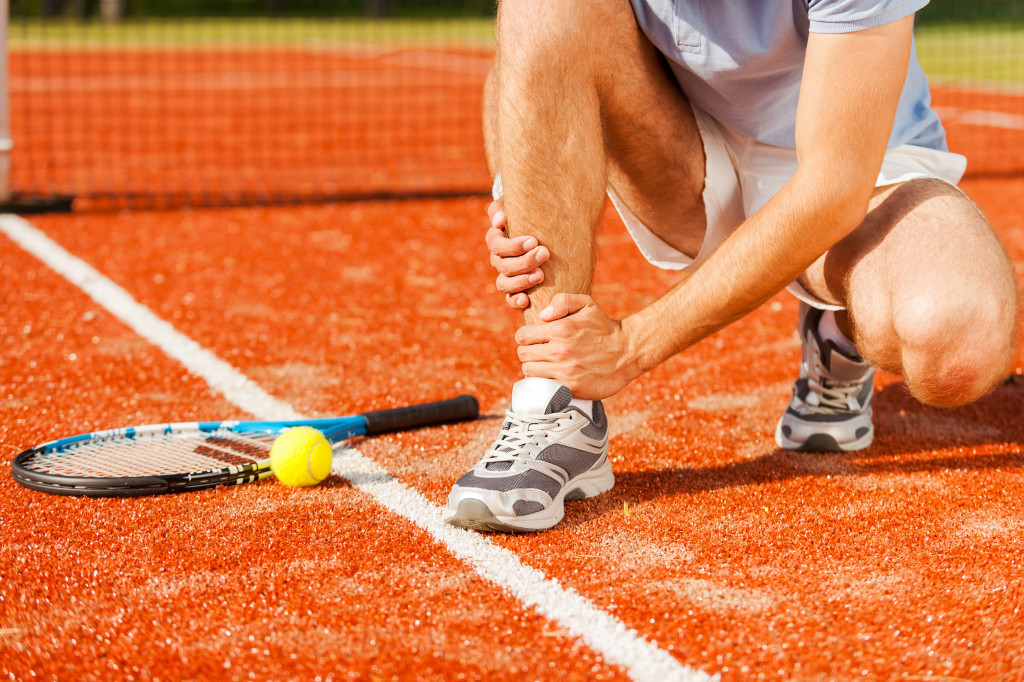 Tennis sports injury