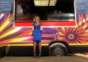 girl at a food truck